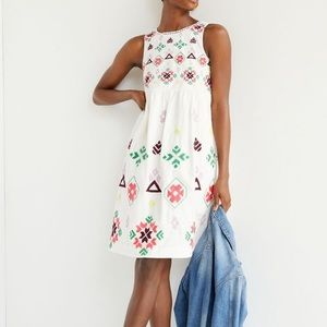 Anthropologie dolly embroidered midi dress